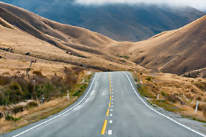 Scenic drives in New Zealand