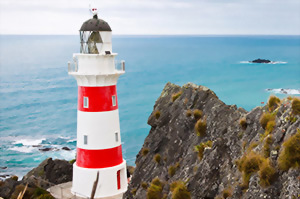 Cape Palliser lighthouse New Zealand