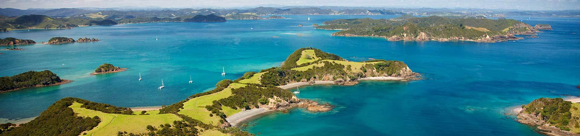 Bay of Islands aerial shot, New Zealand