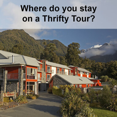 View of Fox Glacier accommodation in New Zealand