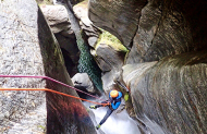 Niger Stream Full Day Canyoning Trip with Deep Canyon Lake Wanaka
