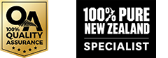 Quality assured with 100% Pure New Zealand specialists