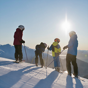 Family time Skiing in New Zealand