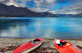 Take a kayak tour on Lake Wakatipu