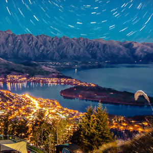 Starry Queenstown at night