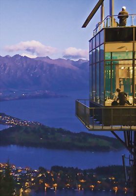 View over Queenstown and the Remarkables