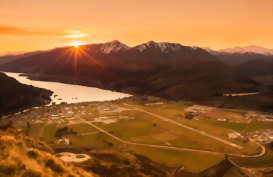 View over Queenstown New Zealand
