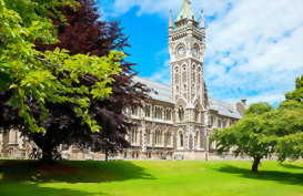 Clock tower of University of Otago Dunedin