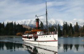 TSS Earnslaw in Queenstown New Zealand