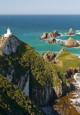 Nugget Point in the Southland