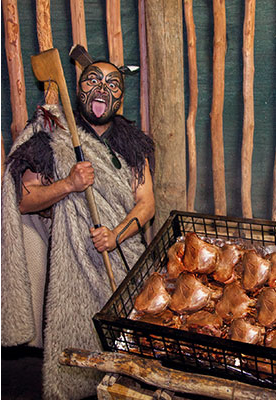 Traditional Maori Hangi (Feast)