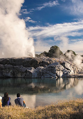 Thermal activity in Rotorua