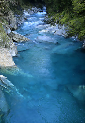 Blue Pools, Haast Pass, New Zealand