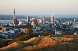 A view of Auckland City from Mount Eden