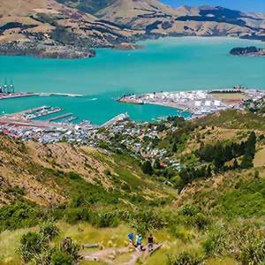 Lyttleton Harbor, Christchurch, New Zealand