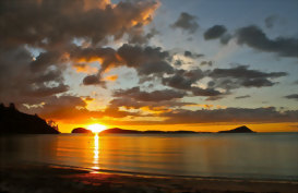 Sunset in Coromandel North Island New Zealand