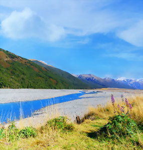 Landscape of Arthurs Pass