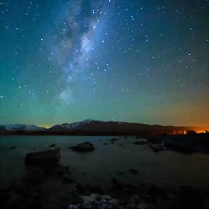 Mackenzie Country at Night, Mount Cook National Park