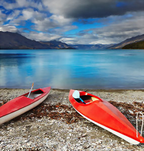 Kayak on Lake Wakatipu