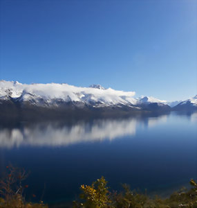 Views over Lake Wakatipu down to Glenorchy