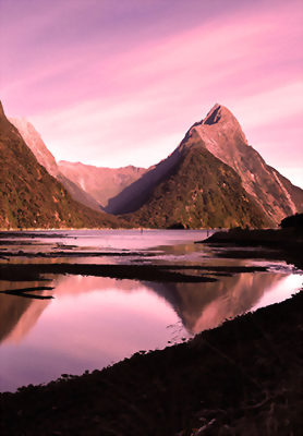 Dusk at Milford Sound
