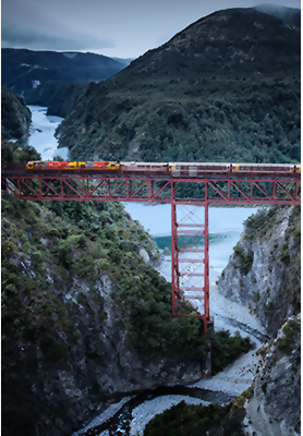 Staircase Viaduct, Tranzalpine train, South Island