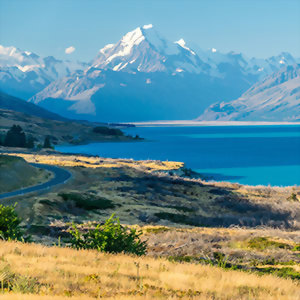 Mt Cook and Lake Pukaki, New Zealand