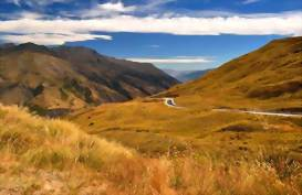 The Crown Range, Queenstown to Wanaka, New Zealand