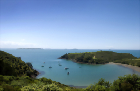 Waiheke Island from above