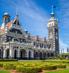 Dunedin railway station, New Zealand