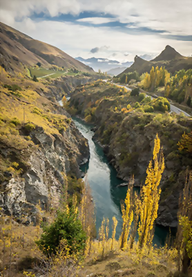 Kawarau river, Queenstown, New Zealand