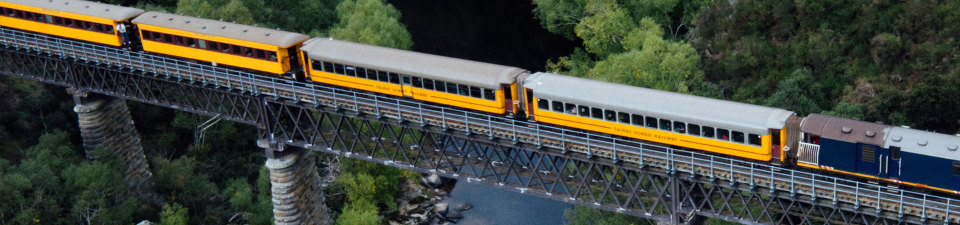New Zealand scenic trains