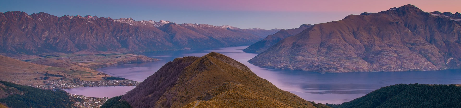 Queenstown sunset, New Zealand