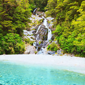 Fantail Falls, Haast Pass, New Zealand