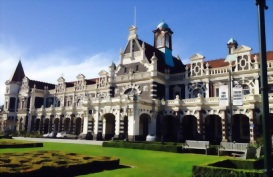 A view of the Dunedin Railway station