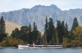 The Earnslaw on Lake Wakitipu