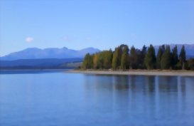 A picturesque Lake Te Anau