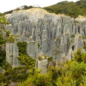 Putangirua Pinnacles in the Aorangi Ranges, North Island