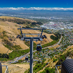 Christchurch gondola view, Cavendish Mountain