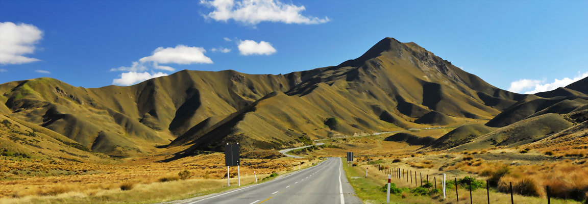 Lindis Pass road South Island New Zealand