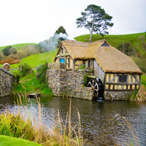 Wander through the streets of Hobbiton