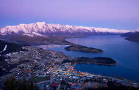 The Queenstown Skyline at dusk