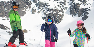 Family ski holiday Queenstown New Zealand