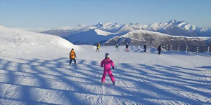 Cardrona ski field family skiing