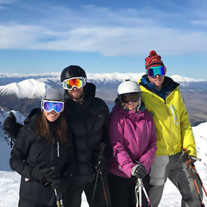 Friends skiing holidays, New Zealand