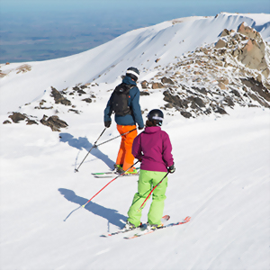 Skiing in New Zealand up at Mt Hutt