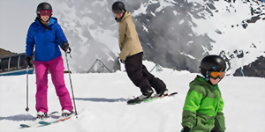 New Zealand family ski holiday