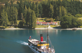 The historic TSS Earnslaw steamship, Queenstown, New Zealand