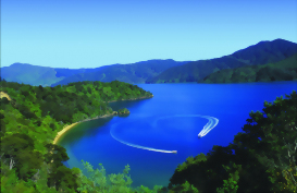 Marlborough Sounds, top of the South Island, New Zealand