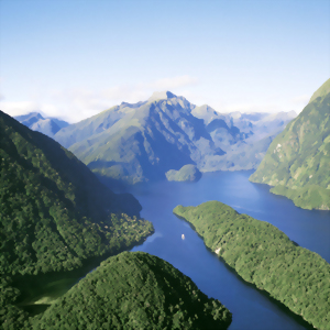 Fiordland National Park, a world heritage area in New Zealand